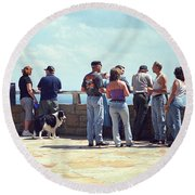 Cumberland Gap Folks Round Beach Towel