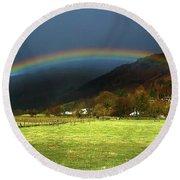 Cumbrian Rainbow Round Beach Towel