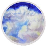 Cumulus  Round Beach Towel
