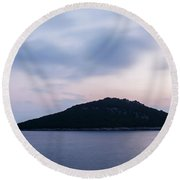 Cunski Coastline At Sunrise, Losinj Island, Croatia Round Beach Towel