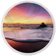 Cup Of Foam Round Beach Towel