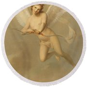 Cupid Round Beach Towel