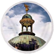 Cupola At Sans Souci Round Beach Towel