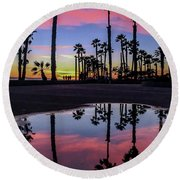 Curb Appeal Round Beach Towel
