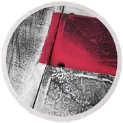 Round Beach Towel featuring the photograph Curbs At The Canadian Formula 1 Grand Prix by Juergen Weiss