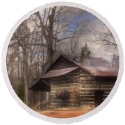 Round Beach Towel featuring the photograph Curing Time by Benanne Stiens