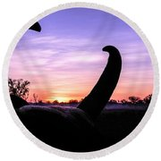 Curious Sunrise Round Beach Towel
