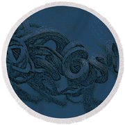 Round Beach Towel featuring the digital art Curly Swirly by Kim Henderson