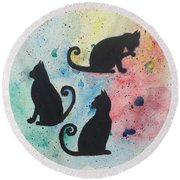 Curly Tails Round Beach Towel