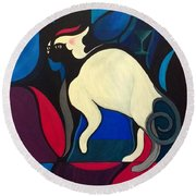 Pyewacket Round Beach Towel