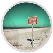 Currehts Round Beach Towel by Jerry Golab