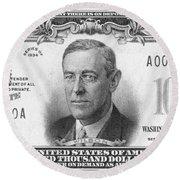 Currency: 100,000 Dollar Bill Round Beach Towel