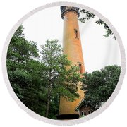 Currituck Beach Lighthouse Round Beach Towel