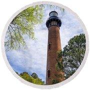 Currituck Lighthous - Corolla Outer Bank Norht Carolina Round Beach Towel