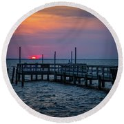 Currituck Sunset Round Beach Towel
