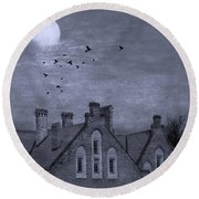 Round Beach Towel featuring the photograph Curse Of Manor House by Juli Scalzi