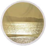 Round Beach Towel featuring the photograph Curtain Of Water  by Lyle Crump