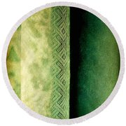 Round Beach Towel featuring the photograph Curtain by Silvia Ganora