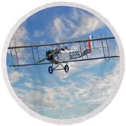 Curtiss Jn-4h Biplane Round Beach Towel