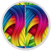 Curved Abstract Round Beach Towel by Sheila Mcdonald