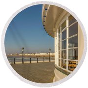 Curved View Round Beach Towel
