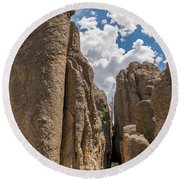 Custer State Park Needles Round Beach Towel by Brenda Jacobs