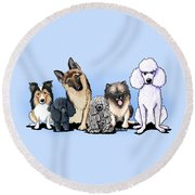Custom Breed4ginnie Print Round Beach Towel