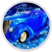 Custom Car  Round Beach Towel by Joseph Hollingsworth