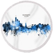Custom New York Skyline Round Beach Towel