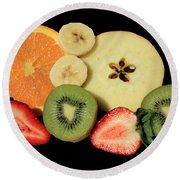 Cut Fruit Round Beach Towel