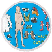 Cut Outs Round Beach Towel