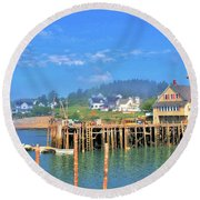 Cutler Harbor Round Beach Towel