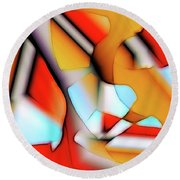 Round Beach Towel featuring the digital art Cutouts by Ron Bissett