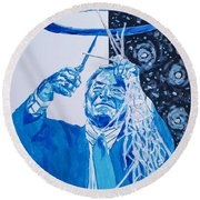 Cutting Down The Net - Dean Smith Round Beach Towel