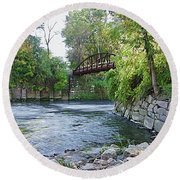 Cuyahoga River At Peninsula Round Beach Towel
