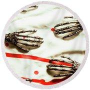 Cyborg Death Squad Round Beach Towel