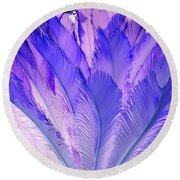 Purple Cycad Round Beach Towel