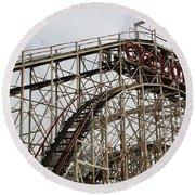 Cyclone Roller Coaster Coney Island Ny Round Beach Towel