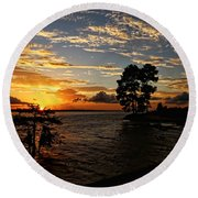 Cypress Bend Resort Sunset Round Beach Towel