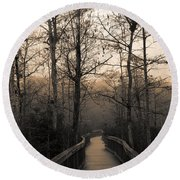 Cypress Boardwalk Round Beach Towel