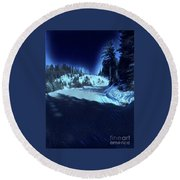 Cypress Bowl, W. Vancouver, Canada Round Beach Towel