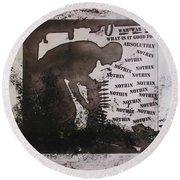 D U Rounds Project, Print 13 Round Beach Towel