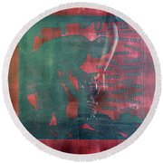 D U Rounds Project, Print 34 Round Beach Towel