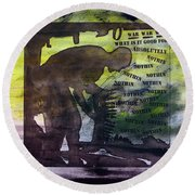 D U Rounds Project, Print 48 Round Beach Towel
