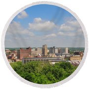 D39u118 Youngstown, Ohio Skyline Photo Round Beach Towel
