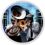 Da New Orleans Two Round Beach Towel