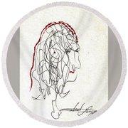 Da Vinci Drawing Round Beach Towel