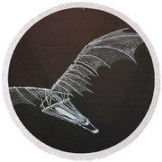 Da Vinci Flying Machine Round Beach Towel