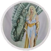 Daenerys Targaryen - Game Of Thrones Round Beach Towel