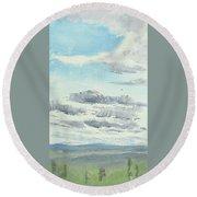 Dagrar Over Salenfjallen- Shifting Daylight Over Distant Horizon 10 Of 10_0029 Round Beach Towel
